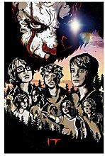 Lomoko Stephen King It - Schreckliche Filmplakate