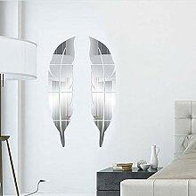 LOMYLM Acryl-Spiegel-Aufkleber für die Wand,