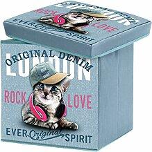 London–Sitzsack London Hocker Aufbewahrungskiste Aufbewahrung Riesen Décor London Girly Cat 38x 38x 38cm
