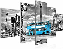 London Bus Bild Vlies Leinwandbild 5 Teilig