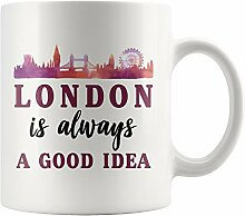 London Coffee Mug, London Gift, London Vacation