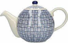 London Pottery Out of the Blue Globe Teekanne mit