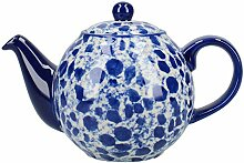 London Pottery Splash Globe Teekanne mit Sieb,