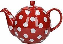 London Pottery, Teekanne, rund, für 4Tassen,