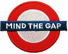 London Sign Logo Mind the Gap Iron on Patches by