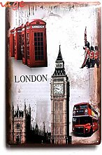 LONDON TELEFON Tin Sign Bar Pub home Wand Dekor Retro Metall Art Poster