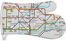 London Underground Oven Mitt, White by London