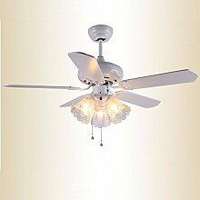 Lonfenner Die Nordischen Moderne Ventilator Ventilator Lampe Blatt Esszimmer Esszimmer Deckenventilator Kronleuchter Lampe Integrierte Deckenventilator Lampe Weiß 132 Cm