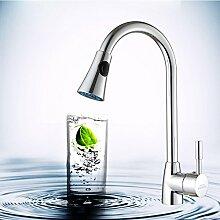 Long Tou Küchenarmatur Wasserhahn Küche Armatur Küchenarmatur Waschbeckenarmatur Einhandmischer für Küchen Bad Hot and Cold Mixer Wasserhahn