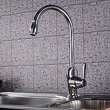Long Tou Küchenarmatur Wasserhahn Küche Armatur Küchenarmatur Waschbeckenarmatur Einhandmischer für Küchen Bad Kitchen Hot und Cold Rotary Sink Wasserhahn erhöhen