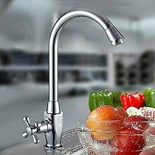 Long Tou Küchenarmatur Wasserhahn Küche Armatur Küchenarmatur Waschbeckenarmatur Einhandmischer für Küchen Bad Single Cold Dish Basin Wasserhahn