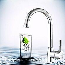 Long Tou Küchenarmatur Wasserhahn Küche Armatur Küchenarmatur Waschbeckenarmatur Einhandmischer für Küchen Bad Alle Kupfer heiß und kalt Küche Wasserhahn