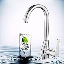 Long Tou Küchenarmatur Wasserhahn Küche Armatur Küchenarmatur Waschbeckenarmatur Einhandmischer für Küchen Bad Alle Kupfer heiß und kalt Wasserhahn