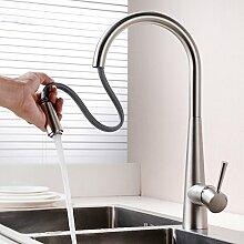 Long Tou Moderne Küchenarmatur Wasserhahn Küche Armatur Küchenarmatur Leicht zu montieren Rost-Proof Waschbeckenarmatur Einhandmischer für Küchen Bad,18