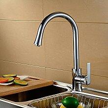 Long Tou Moderne Küchenarmatur Wasserhahn Küche Armatur Küchenarmatur Leicht zu montieren Rost-Proof Waschbeckenarmatur Einhandmischer für Küchen Bad,86