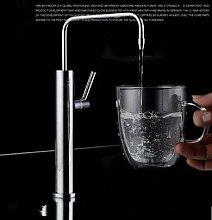 LongGu der Küche Wasserhahn trinken Wasserfilter reines Kupfer Kühlung Wasser frei Gemüse Waschbecken, Waschbecken Armatur chrom silber