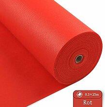 LONGING HOME Tischdeckenrolle, 0.3 × 25M, Rot,