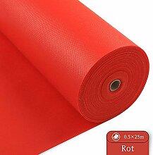 LONGING HOME Tischdeckenrolle, 0.5 × 25M, Rot,