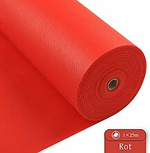 LONGING HOME Tischdeckenrolle, 1 × 25M, Rot,