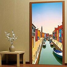 Longless 3D-Stereo, Wohnzimmer Schlafzimmer Tür, personalisierte dekorative Wand Aufkleber