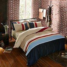 Longless Baumwolle, Freizeit, vier Sätze, Baumwolle, Bettlaken, Bettbezug, Kissenbezüge, Bettwäsche