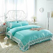 Longless Einfache, nackte Bett, Tagesdecke, Einzel- und Doppelzimmer, 4-teilig, steppdecke Steppdecke, Bett, Ki