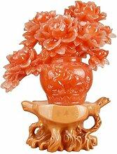 Longless Harz Handwerk reichen und friedlichen Pfingstrose vase Dekoration kreative Ideen Geschenke