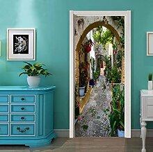 Longless Kreative Tür Aufkleber, Schlafzimmer Tür Renovierung, personalisierte Dekoration Tür Aufkleber