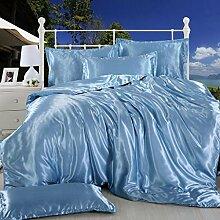 Longless Reine Farbe, Seide, nude Bett, Bettdecke, Bettbezug, Bettbezug, Bett, Verbrauchsmaterial, Ki