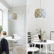 Longless Restaurant Lampe single Kronleuchter kreative Persönlichkeit Esszimmer Theke, Schlafzimmer einfache moderne Balkon net Kaffee schmiedeeiserne Lampe,