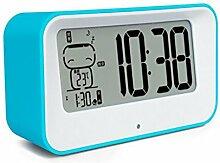Longless Snooze Wecker Stummschaltung LED ABS leuchtend Bett 14*8.2*4.5CM