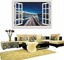 Longless Star Wandaufklebern, Mode Persönlichkeit, creative 3D, Wand Aufkleber