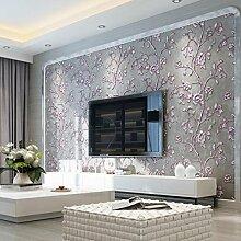 Longless Tapete 3D Wohnzimmer Schlafzimmer Tapeten Umweltschutz Vliesstoffe Tapeten 10*0.53M