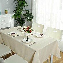 Longless Tischdecke einfache moderne Tischdecken aus Baumwolle Tischdecken 130 * 230cm