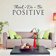 Longless Wall Sticker denken, Wohnzimmer Schlafzimmer Studie Dekoration Aufkleber