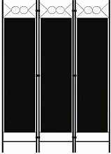 LONGMHKO Raumteiler 3-TLG. Raumteiler Schwarz 120