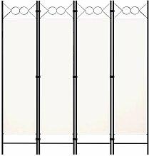 LONGMHKO Raumteiler 4-TLG. Raumteiler Weiß 160 x