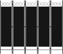 LONGMHKO Raumteiler 5-TLG. Raumteiler Schwarz 200