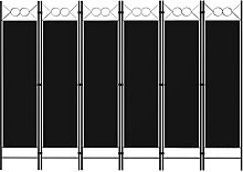 LONGMHKO Raumteiler 6-TLG. Raumteiler Schwarz 240