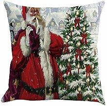 Longra Kissenbezüge Weihnachten Kissenbezug 45 x
