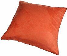 Longra Modus Wildleder nap reine Farbe Kissenbezug Hauptdekoration Sofa Auto Throwkissen Fall (Orange)
