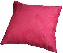 Longra Modus Wildleder nap reine Farbe Kissenbezug Hauptdekoration Sofa Auto Throwkissen Fall (Rose Rot)