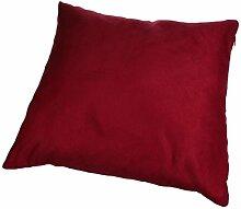 Longra Modus Wildleder nap reine Farbe Kissenbezug Hauptdekoration Sofa Auto Throwkissen Fall (Dunkelrot)