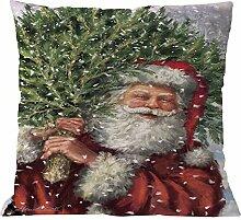 Longra Weihnachten Kissenbezug 45x45cm