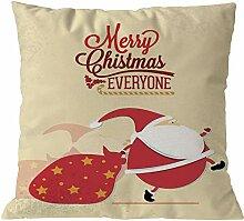 Longra Weihnachten Kissenbezug Weihnachtsdeko