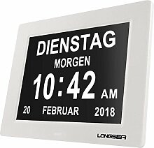 Longsea Digital Wecker Digitaler Kalender Tag Uhr
