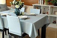 Longshien Pure Farbe Tisch Tuch Tuch Couchtisch Tuch Tischdecke ( Farbe : Hellblau , größe : 140*140cm )