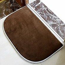 Longshien-Teppich Badezimmer Küche Schlafzimmer Badezimmer Antirutschmatte Wasserabsorbierende Bodenmatte Fußmatte Flur Osmanen über 2 Stück Türmatten ( Farbe : Shallow Coffee )