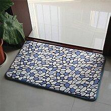 Longshien-Teppich Dickes Badezimmer Badezimmer Küche wasserdichte Matten Türmatten ( Farbe : F )