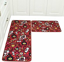 Longshien-Teppich Die Küche ist geschlitzt Matratze Matte Toiletten Badezimmer mit Bad Türmatten ( Farbe : A , größe : 45*65cm )